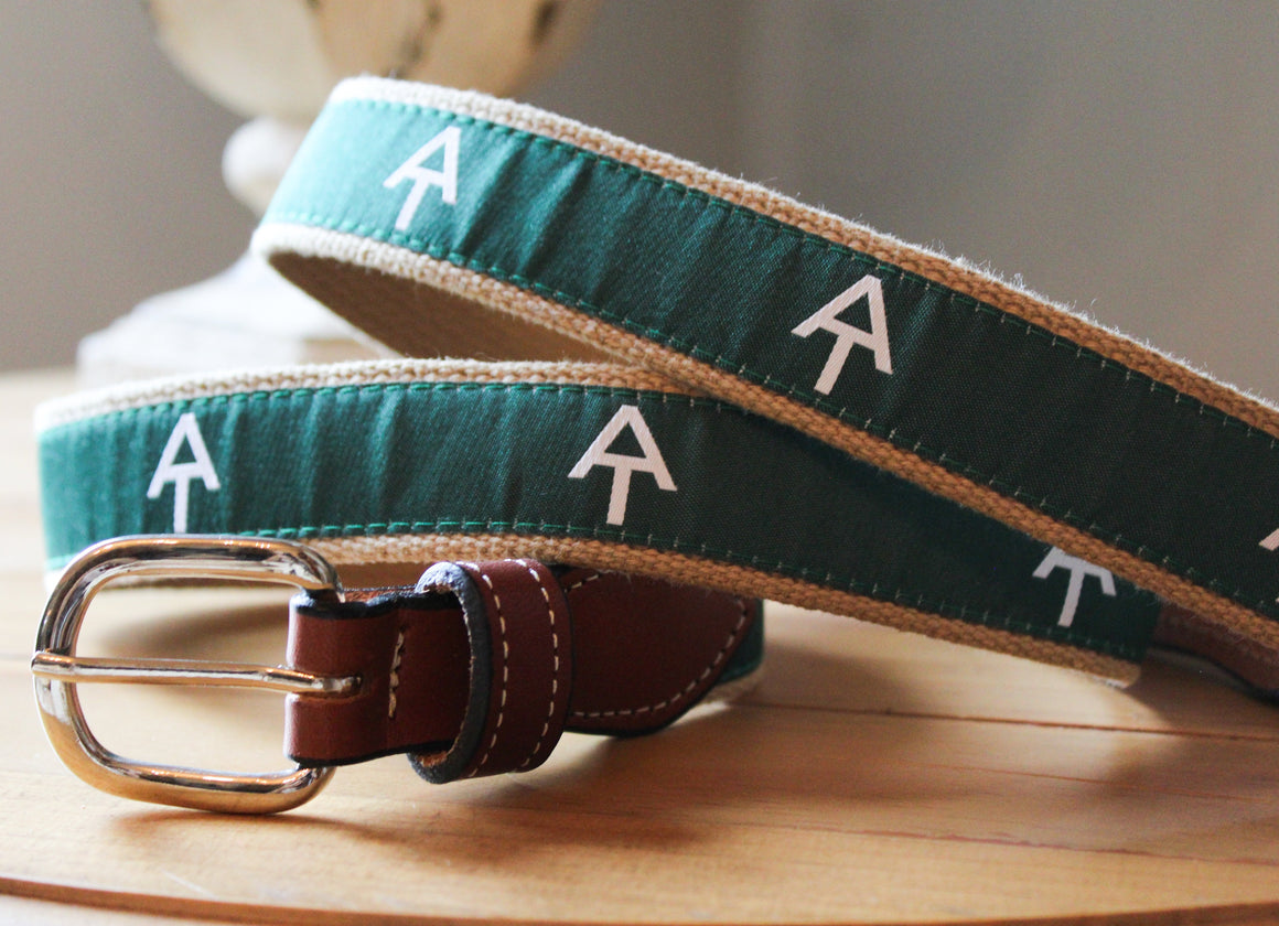 Themed Ribbon Webbed Leather Belts