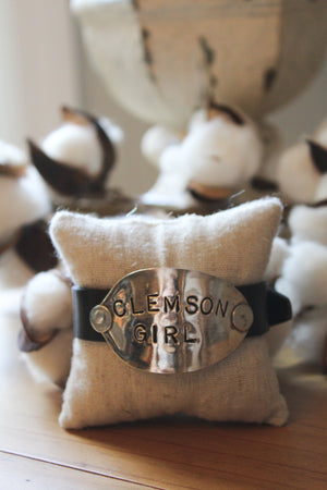 Vintage Silver Plate Spoon Leather Wristband - Great Personalized