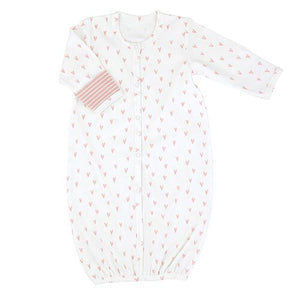 Knit Baby Gown In Prints For Boys & Girls