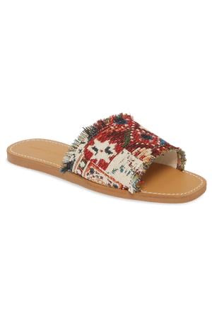 Marina Tapestry Woven Slide Sandals