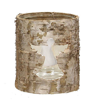 Rustic bark votive candle