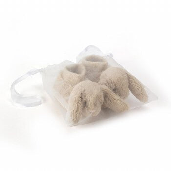 These booties will keep you little one's toes warm.  For babies 0 to 3 months Made from 100% polyester Hand wash only