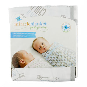 The Miracle Blanket® makes it easy to get the perfect swaddle every time!  The fabric is a super soft cotton knit selected for several good reasons: It's breathable so that it can be used in warm climates while still being luxurious enough to keep your baby warm in cooler places; It has just enough stretch to absorb your baby's movements without coming undone but it's not so stretchy that it won't stay tight.