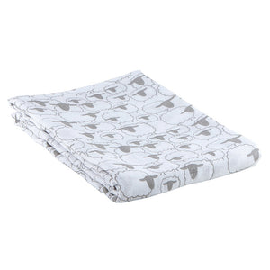 Cute and comfortable, this swaddle blanket is perfect for use as a nursing scarf, burp pad, covering strollers and of course swaddling.  The bamboo cotton blend is breathable, soft to baby's touch, helps regulate body temperature and is green friendly. Blanket is 70% bamboo and 30% cotton.  Blanket is available in four color patterns Care Instructions: Machine wash cold. Do not bleach. Tumble dry low. Iron cool.