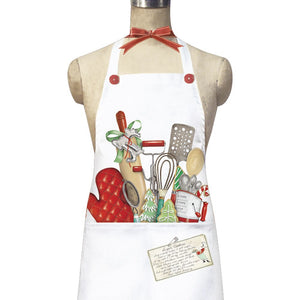 Holiday Oven-Mit pocket apron