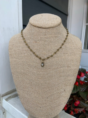 Beaded choker necklace- nw105