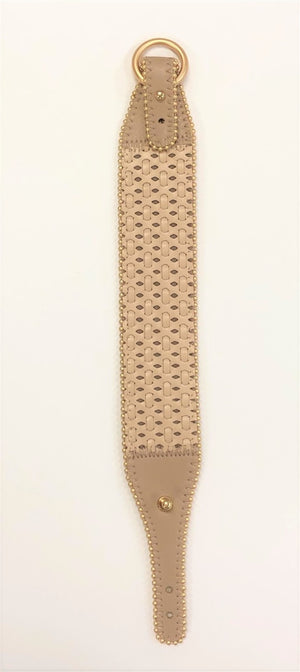 Leather Woven Bracelet with Buckle Clasp