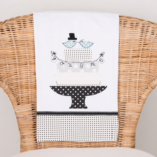 Love Birds Wedding Tea Towel