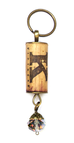 Crystal Cork Key Chain