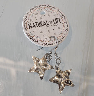 Silver Natural Life Earrings NL102