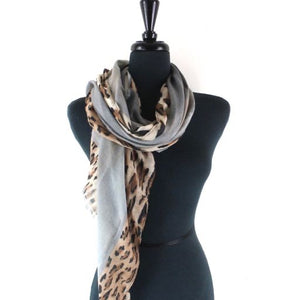 Scarf with Animal print border (PP212)