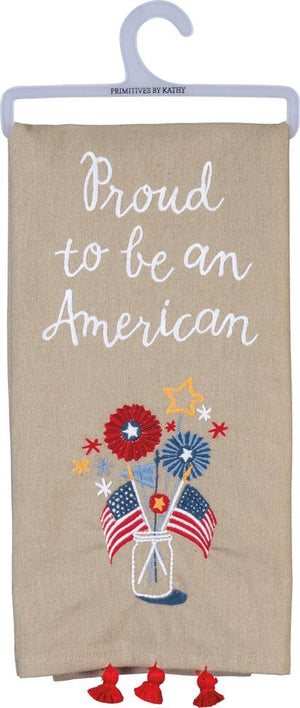"Dish Towel - ""Proud To Be An American"""