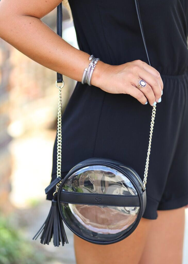 Coco Circular Clear Bag with Tassel