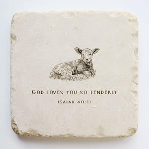 Small - Scripture Marble Stone - For I know the plans I have for you