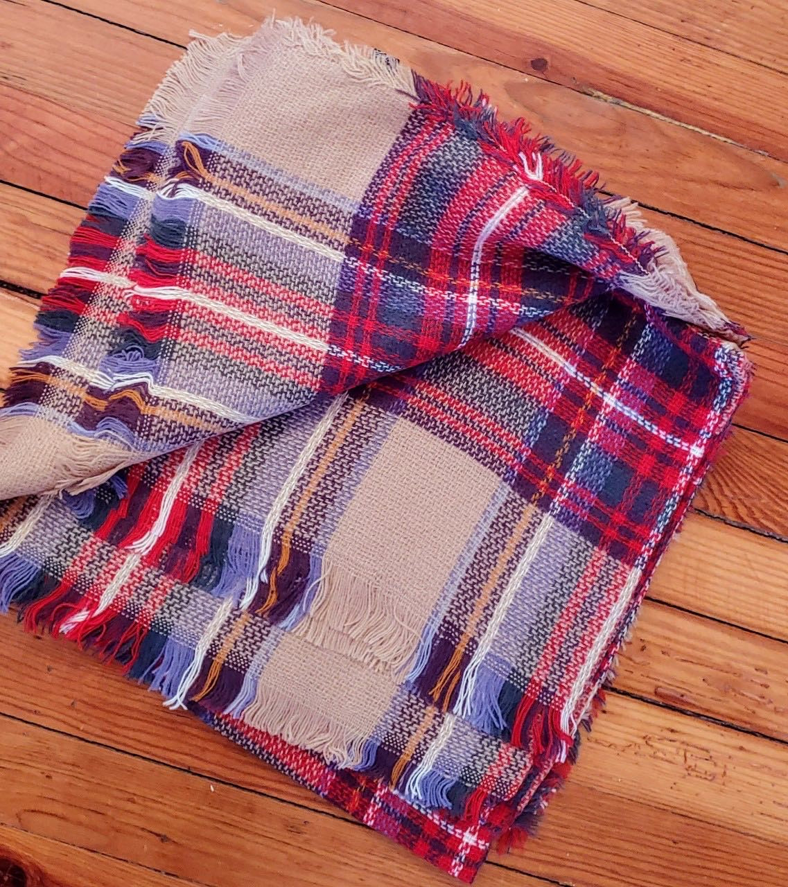 Ladies Plaid Scarf