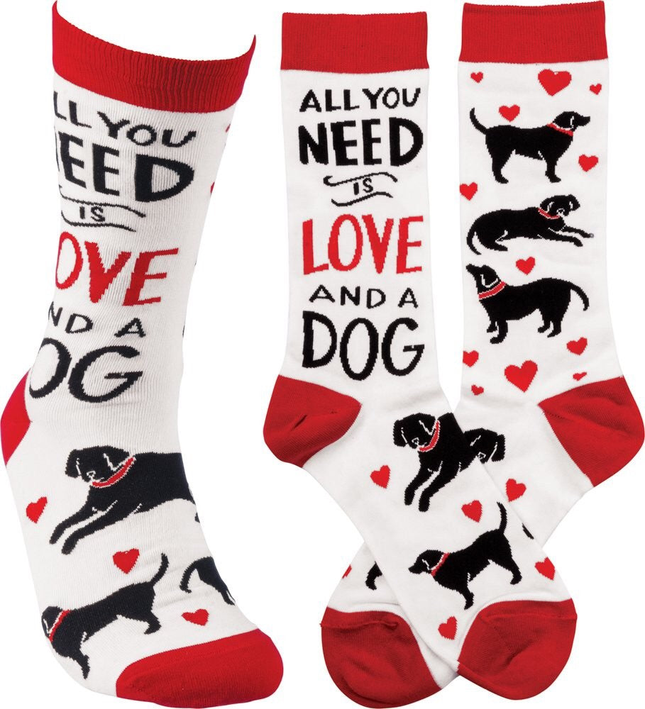 "Socks - ""All You Need Is Love And A Dog"""