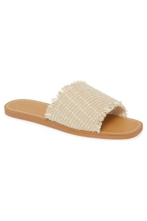 Marina Natural Woven Jute Slide Sandals