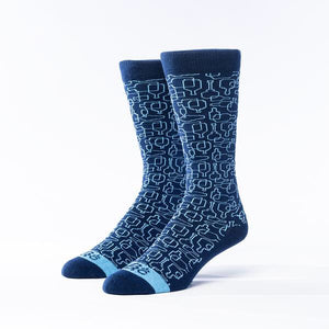 Bourbon Days© Socks | Navy + Light Blue