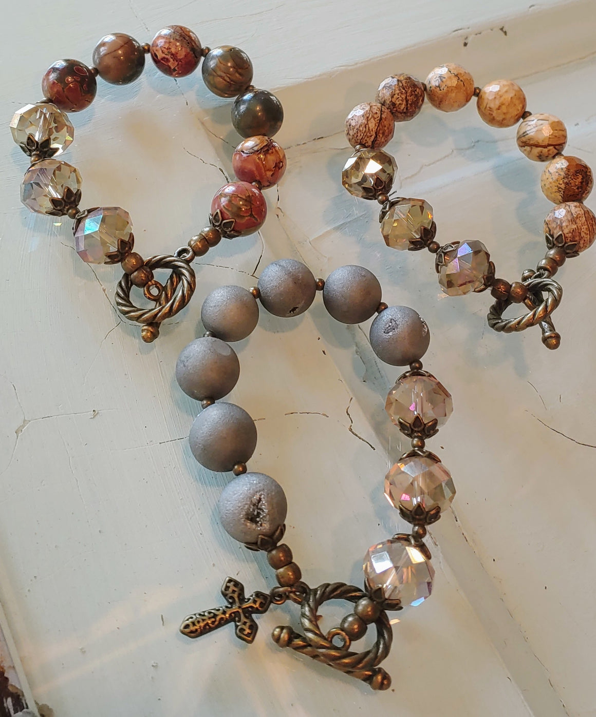 Natural Stone and Crystal Bracelets