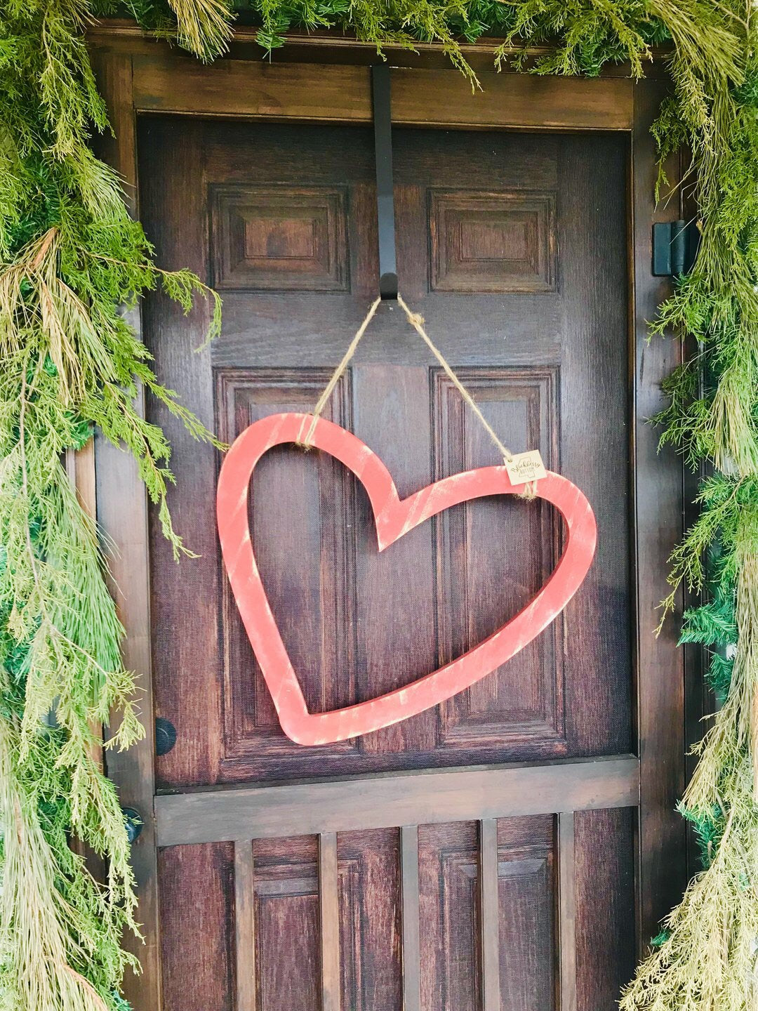 Hanging Wooden Heart, Handcrafted