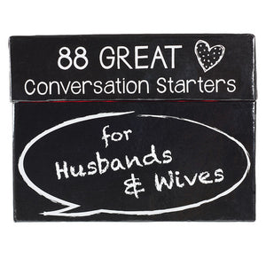 Conversation Starter Cards for Husbands & Wives