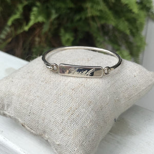 Engrave-able Sterling Silver Bangle Bracelet for Child. Perfect for child's monogram, name, or birthdate.