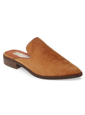 Tan Sueded Velvet Mule