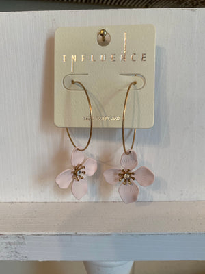 Dogwood Earrings, Lightweight Metal - PP202