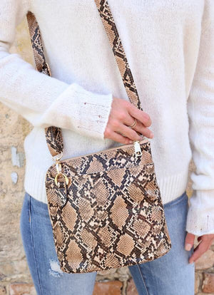 Gardner Clay Snake Crossbody Handbag