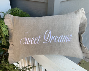 Embroidered Sweet Dreams Pillow