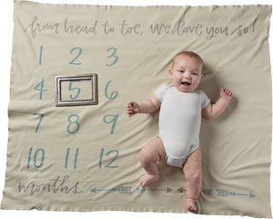 "Milestone Blanket - ""From Head To Toe, We Love You So!"""