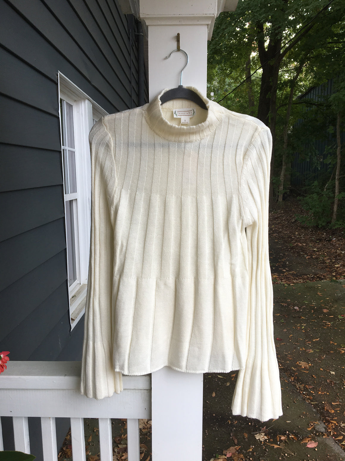 Sweater top with bell sleeves