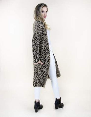 Cheetah Print Long Sleeve Cardigan