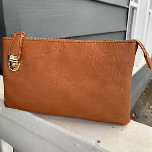 Riley Textured Compartment Wristlet/Crossbody