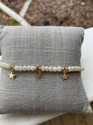 Star and Moon Bead Bracelet