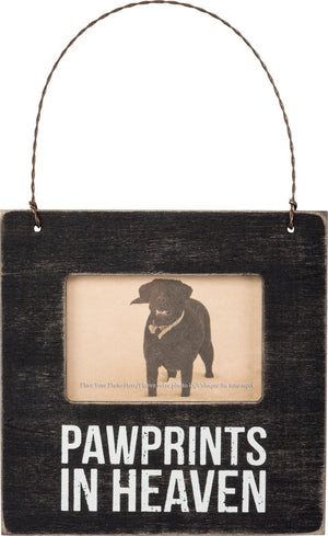 Pawprints in Heaven - Wooden Mini Picture Frame
