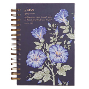Journal - Grace Large Wirebound Journal in Eggplant - Romans 2:33