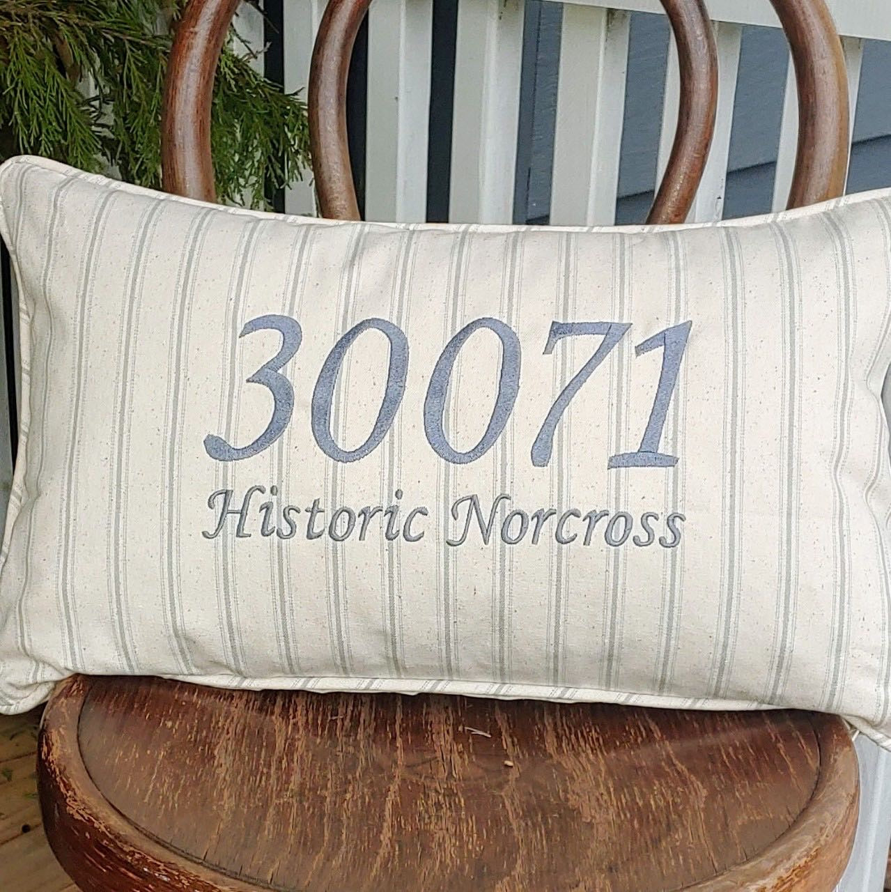 "Custom Zip Code Pillows, 12"" x 20"""