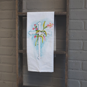 Sacred Cross Tea Towel