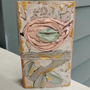 Hand painted Wood Art Blocks - Birds