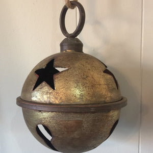 Antique Rustic Gold Jingle Bell 7""