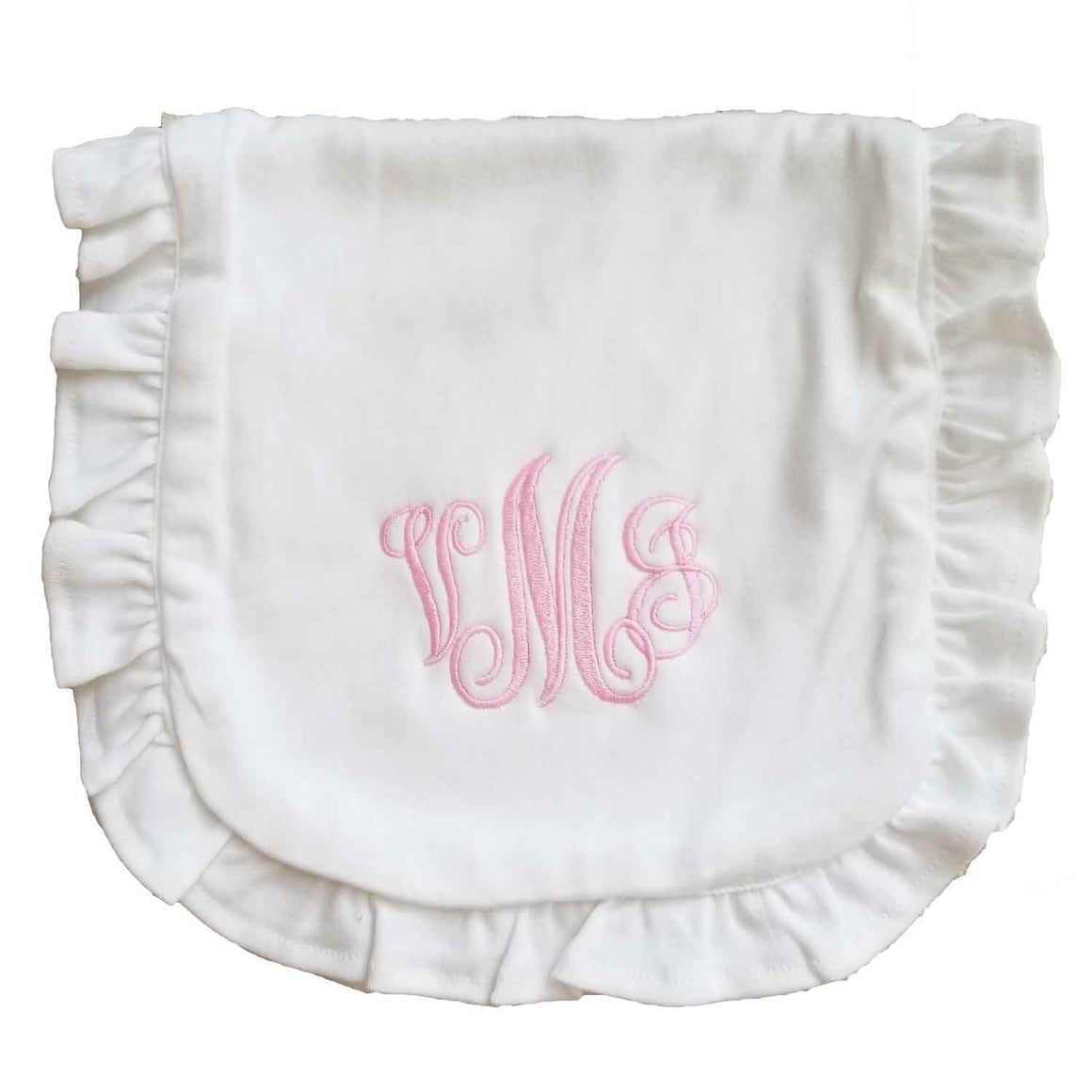 Cotton Baby Bib with Ruffle (may be monogrammed)