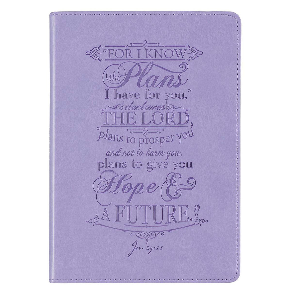 Journal - Classic Purple, For I Know The Plans I Have for You...