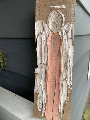 Hand Painted Wood Art Blocks- Tall Angel