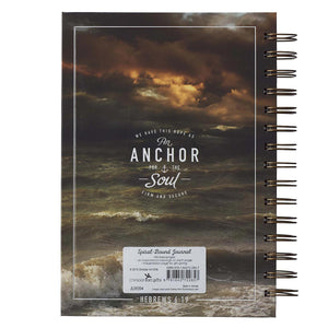 Journal - Anchor For The Soul Large Wirebound - Hebrews 6:19