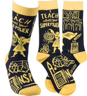 "Socks - ""I Teach What's Your Super Power"""