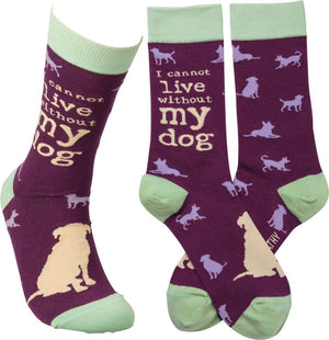 "Socks - ""I Cannot Live Without My Dog"""
