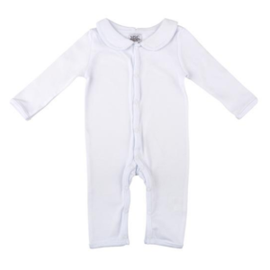 White Pima Cotton Onesie, 0 to 6 months