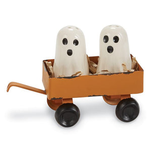 3-Piece Ghost Salt and Pepper Shakers