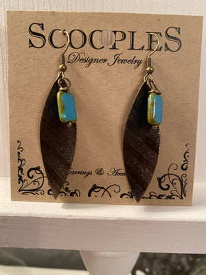 Turquoise Rock Dangle - J2225